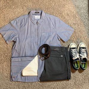 Tavik Double Zip shirt with collar